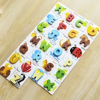 alphabet readers - New Early Learning Cognitive Map Reader alphabet animal letter card child wooden jigsaw puzzle baby toys