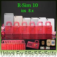 Wholesale For iphone plus Unlock Card ios8 ios X original rsim10 R SIM R SIM RSIM SIM10 unlock s plus AT T T mobile Sprint WCDMA GSM CDMA