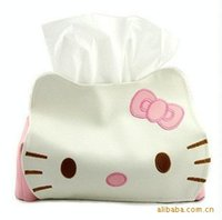 Wholesale Hello Kitty Cute Home Car Tissue Case Box Container Towel Napkin Papers Bag Holder BOX Case Pouch