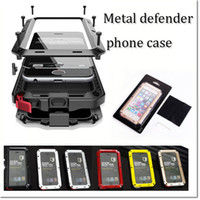 Wholesale For iphone plus s plus Waterproof Metal Case Hard Aluminum Dirt Shock Proof Mobile Cell Phone Cases Cover with retail pack