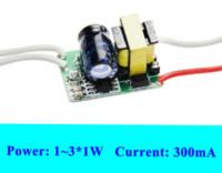 al por mayor 3v conductor-Constante del conductor de la corriente LED de 3W 300mA 3W Led Transformador de CA 110V 220V DC 3V 6V 10V 9V 1w 2w 1x1w 3W 2x1w
