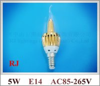 angle tower - LED candle bulb lamp crystal light Tapered tower style emission angle E14 W SMD3014 led lm AC85 V CE ROHS