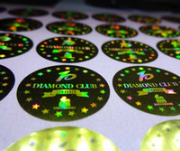 Wholesale 5000 pieces set customized authenticity d hologram maker label sticker with free design void if removed