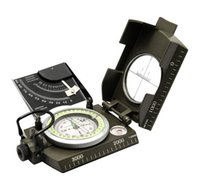 Compasses american levels - High quality night light MK4074 Army green color American Multifunctional Luminous handheld compass with ruler level outdoor car compass