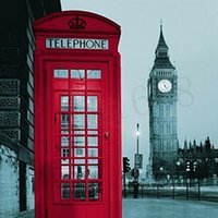 Wholesale New Famous City Landmark Pattern London Big Ben Polyester Shower Curtain Waterproof Home Bathroom Curtains