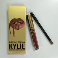 Wholesale 2016 Hot Sale Kylie Jenner Matte Liquid Lipstick LEO Birthday Limited Edition Lip Gloss with