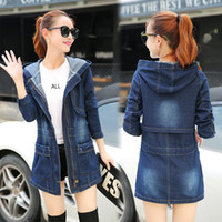 Wholesale New Arrival Oversized XL Women Denim Jacket Cotton Jeans Coat Casacos Femininos Ladies Long Denim Coats