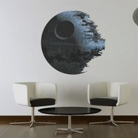 Wholesale Death star ARTWORK Star Wars home decor Wall sticker Wallpaper wall decals For Kids Children Room cm