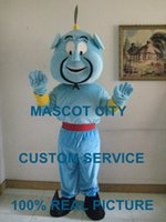 aladdin costumes - Aladdin Genie Mascot Costume Adult Size Fairy Tale Character Aladdin Genie Mascotte Outfit Suit Cosply Carnival Costume