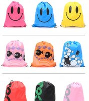 Wholesale Oxford Shoulder Bags Travel Backpacks Drawstring Storage Bags Outdoor Beach Gym Swimming Clothing Shoe Towel Storage Bag Drawstring Backpack