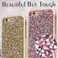 Cheap For iphone 5 6 6s Plus New Fashion diamond bling 2 in 1 Luxury rhinestone Case Free Shipping DHL
