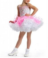 ball curl - Flower girl s Birthday Party Dress Dance Dress Mini Spaghetti Open back Beading Crystal Organza Curling Celebrity Dresses