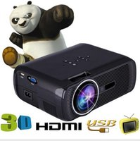 Wholesale BL P HD Mini Portable LED Cinema Home Theater Projector D AV USB SD VGA HDMI x1080 LCD Projectors Ship From USA