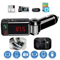 Wholesale Bluetooth Car Kit FM Transmitter Hands Free Aux Mp3 Player Modulator with LED Display Portable Dual USB Charger Transmissor FM BZ