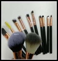 Cheap 12pcs Makeup Brushes Tools Nude 12 piece Professional Makeup Brush sets Iron box+gift DHL Free Shipping