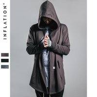 Wholesale New Arrival Brand Soild Men s Cloak Hooded Male Streetwear Sweatshirts Hip Hop Autumn Full Sleeves Clothing