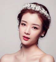 Wholesale Bridal Headdress Korean Europe Crystal Rhinestone Marriage Accessories Hair Styling Crown Upscale Movies Property
