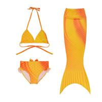 Wholesale 2016 New Arrival Girls Kids Mermaid Tail Swimmable Bikini Set Swim Costume Children Set Swimwear High Quality