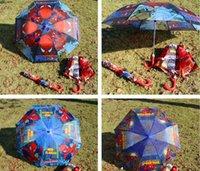 Wholesale new girl favorite popular spiderman cars kid favorite cm folding foldable Umbrella umbrellas beach Rain and Sun Proof