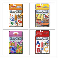 Wholesale Reusable Pen Aqua Coloring Book Doodle Arts Drawing Writing On The Go Water Wow Bundle Paint Board Toys for Children Kids DHL free
