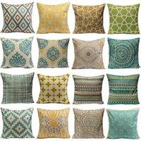 best throw pillows - Best Selling Vintage Geometric Flower Cotton Linen Throw Pillow Case Home AJ29