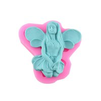 angels cake decorating - 120pcs Food Grade Fairy Soap Silicone Mold Chocolate Candy DIY Cake Mould Angel Sugarcraft Fondant Cake Decorating Tools ZA0668