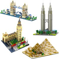 best architectures - YZ056 YZ059 Models Big Ben pyramid Twin Bridge Twin Towers Building architecture Minifigures Best Gift For Children