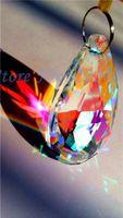 Wholesale 336 mm AB Crystal Glass Almond Prisms Lamp Chandelier Parts X MAS Wedding Pendant decoration