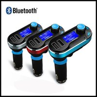 Wholesale Universal Wireless Bluetooth Car Kit MP3 Player FM Transmitter Hand free Support Dual USB Ports SD Card USB Driver AUX Input with Remote