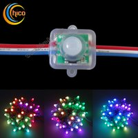 christmas lights color led - 12mm square led pixel light Full Color RGB LED Pixel module Light With IC WS2811 UCS1903 SM16703 For Advertisement