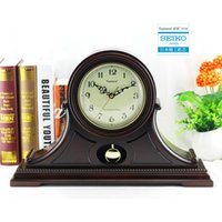 antique mantel clocks - Classical European stylish clock antique mantel clocks big display with bezel standing quartz clock for desktop pendulum