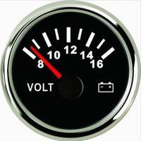 Wholesale 52mm black V voltmeter gauge PMV2 BS