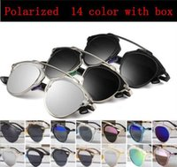 Wholesale SO REAL Women brand designer vintage sunglasses revo mirror painting Polarized lenses cat Oculos Dersal Feminino men and Original box