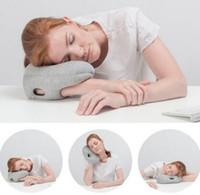 apnea pillow - Travel Mini Arm Pillow Portable Office Outdoor School Soft Breathable Glove Pillow Ostrich Pillow