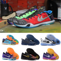 best basketball training - 2016 What the kobe Elite Weaving Retro Mens Basketball Shoes Sneakers Best Quality KB X Dark Atomic Sneakers Training Shoes Size