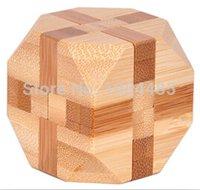bamboo statue - Classic Tetrakaidehedron shaped IQ Bamboo Interlocking Burr Puzzle Size CM