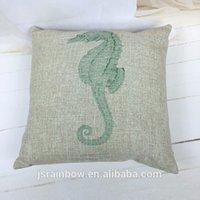 Wholesale Hot sale beach chair car seat custom sublimation print cotton linen cartoon cushion cover for office chair