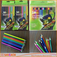 Wholesale 12Colors Colors Drawing Pencils DIY Painting Sketches Colored Pencil for Kid School Graffiti Drawing Painting Secret Garde Pencil