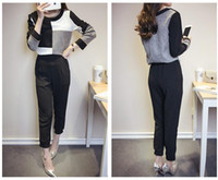 Wholesale In the fall of the new aristocratic temperament haroun pants two piece long sleeved fashion