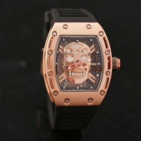 Wholesale 2016 Luxury Brand Men Casual Watch Quartz Hour Clock Men Sport Watches Men s skull Wrist Watch Relogio Masculino