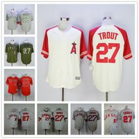 angels baseball store - 2016 Flexbase Mike Trout Los Angeles Angels Mens Baseball Jerseys White Red Cheap Outlets Store