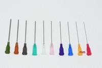 al por mayor isa-centro al por mayor 14G-25G W / ISO agujas de distribución estándar de PP de cierre luer 1,5 pulgadas de longitud de tubos de precisión S. S. dispensar tips1000pcs romas / lot