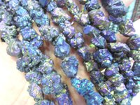 beads agate chip - 2starnds mm Druzy agate gemstone Natural Rock Quartz chips nuggets freeform AB mystic jewelry bead