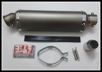 Wholesale Motorcycle general muffler Small oval exhaust pipe Fit cc moto