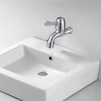 bathroom taps for sale - 3 Packaged for sale Fashion Bathroom Laundry Wall Mount Washing Machine Water Faucet Tap Stop Valve Outdoor Garden Faucet X06
