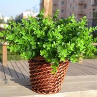 home furniture decoration - Fake Artificial Plants Grass Branch Plastic Green Grass For Wedding Home Furniture Decor Garden Decoration Artificial Flowers Foliage Plan
