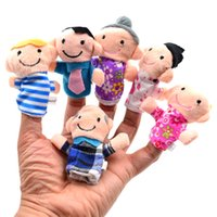 Wholesale Family Characters Themed Cloth Velvet Doll Story Time Christmas Finger Puppets Toys