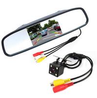 al por mayor noche posterior del coche de la visión-HD Video Monitor de estacionamiento automático, LED de visión nocturna que invierte la opinión posterior del coche del CCD de la cámara con el coche de 4,3 pulgadas Espejo retrovisor