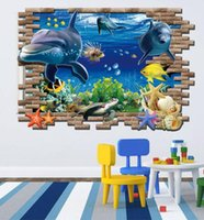 Wholesale 3d wallpaper custom photo non woven mural The undersea world fish Children room painting picture d wall room murals wallpaper