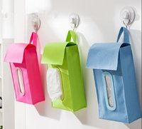 auto nice - Use super nice car home dual use hanging Tissue box Auto accessories Home Kitchen holder Paper napkin colors PU leather Case